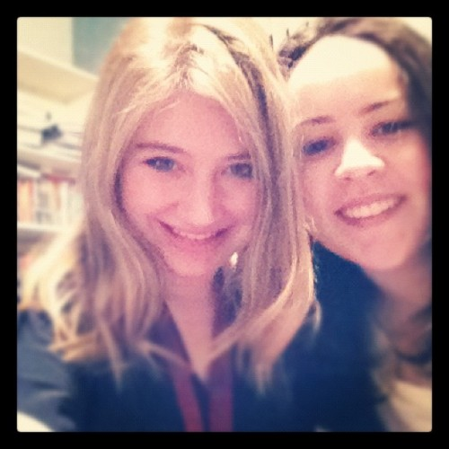 lexandraa:  emilyhalprin:  Graduation (Taken with Instagram)  You see that beautiful blonde girl? That's my best friend. She graduated from high school tonight and I love her to bits. I love her so much I sat through her 2 hour graduation ceremony - some of which was in Hebrew. I don't speak Hebrew. She also has fantastic shoes.  I LOVE BOTH OF YOU GIRLIES Alex, its about time you learn some Hebrew