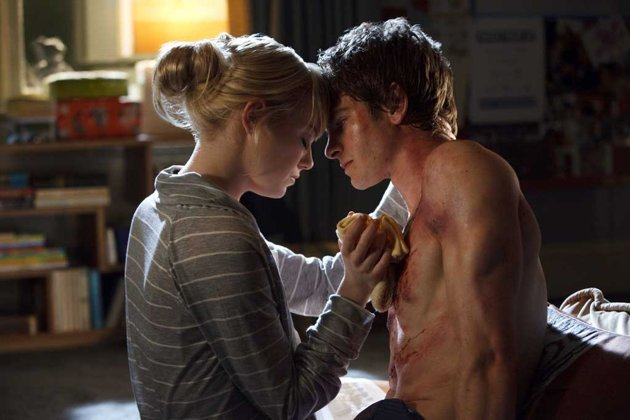 Emma Stone and Andrew Garfield in The Amazing Spiderman which comesout July 2012. I honestly have not gone a day without thinking about this movie. I am a Spiderman fanatic.