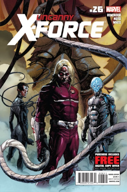 Uncanny X-Force #26, August 2012, written by Rick Remender, penciled by Phil Noto