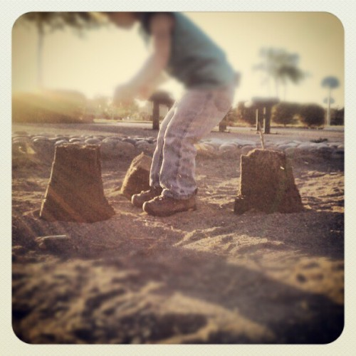 Building sand castles at the park. (Taken with Instagram)