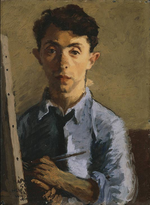 cavetocanvas:  Raphael Soyer, Self Portrait, c. 1927