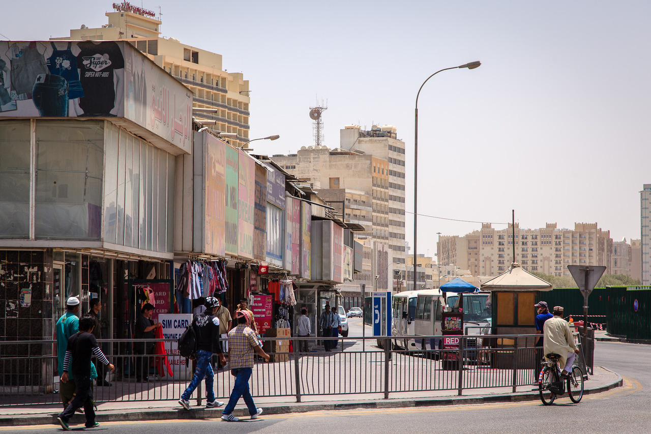 "Al Musheireb Street, by Omar Chatriwala. What remains of the once-bustling downtown Doha area. Now most of it is cleared to make way for a new ""heart"" of Doha."