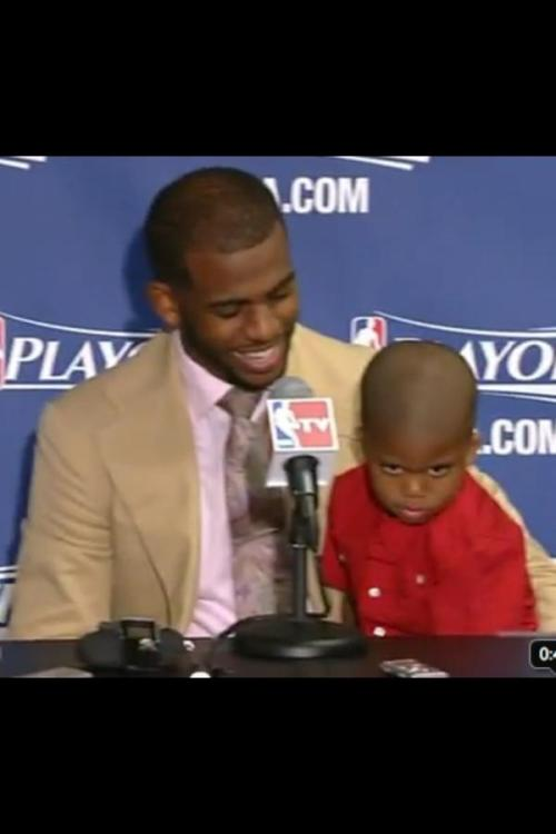 "Chris Paul's Son making ""Black Face"" at a Press Conference"