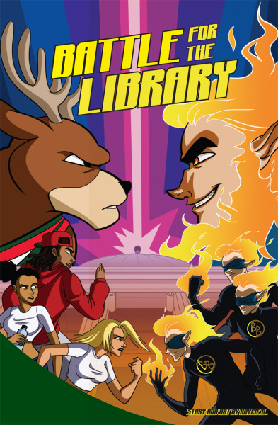 """Milwaukee Bucks Comic Book - Battle For The Library"" A 12-page promotional comic book for the Milwaukee Bucks and Northwestern Mutual 2011 ""Read to Achieve"" program. Over 800 copies of the book were handed out at a Bucks game in the spring of 2011. Please read the comic here!"