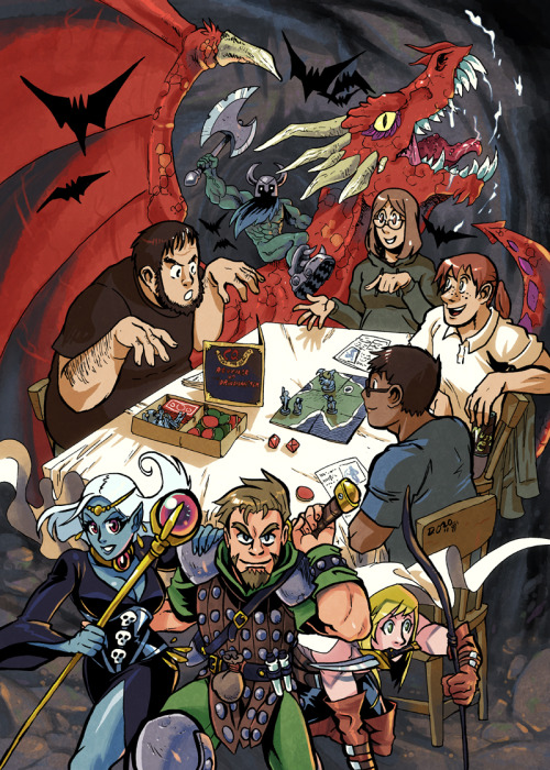 thegeek531:  Dice and Dragons by *weremole