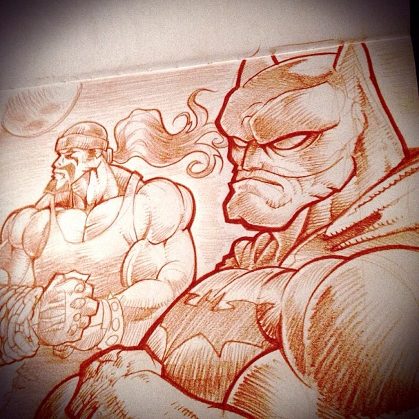 Finished #pencil #drawing #orange #lobo #batman #waynewednesdays #waynewednesday  (Taken with Instagram at Desk of DaCreativeGenius)