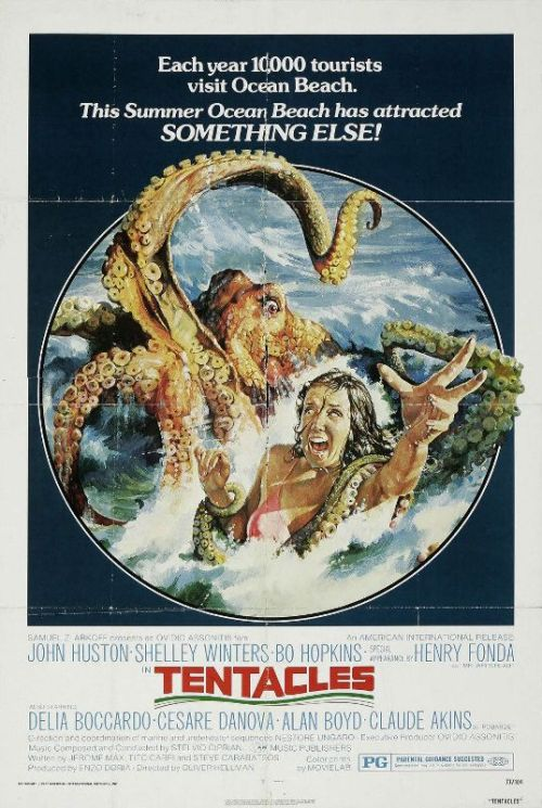 driveintheaterofthemind:  Vintage Poster - Tentacles  Beach weather!