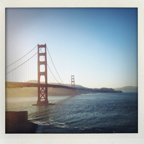 douglasfriedman:  Taken with Instagram at Golden Gate Bridge  I'm following  you up there next week!