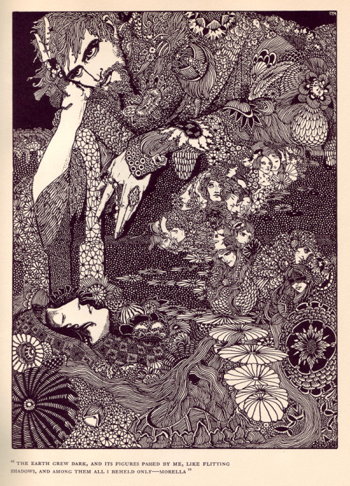 More awesomeness by Harry Clarke (1889-1931). This is an illustration from one of Poe's stories, but it could almost pass for a picture of an Incubus, no?