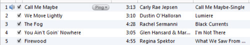 "my top five most played are hilariously indicative right now (this is skewed to ""top five this spring"" as my computer crashed so my playcounts had to start anew)"