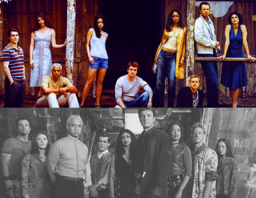 5 Favorite Co-Stars |  the Firefly cast (Nathan Fillion, Alan Tudyk, Gina Torres, Jewel Staite, Adam Baldwin, Sean Maher, Summer Glau, Ron Glass, Morena Baccarin)