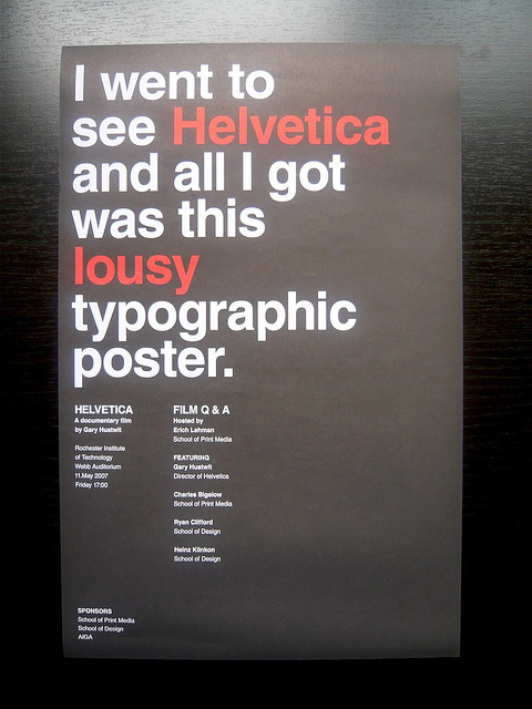 visualgraphic:  I went to see Helvetica  Mmmm helvetica lol