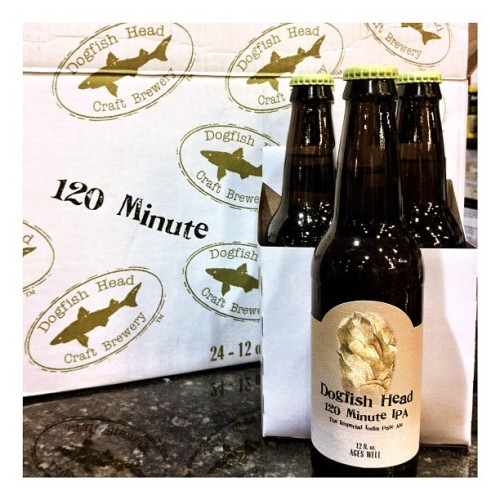 Oh my. Look what I just found! @dogfishbeer 120 minute. Hazardous.  (Taken with Instagram)
