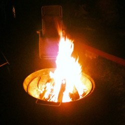 First bonfire of the summer.. (Taken with Instagram)
