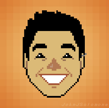 I made this pixel face for my absolute favorite Australian Johneepixels7! Johneepixels? Pixel face? It was meant to be.