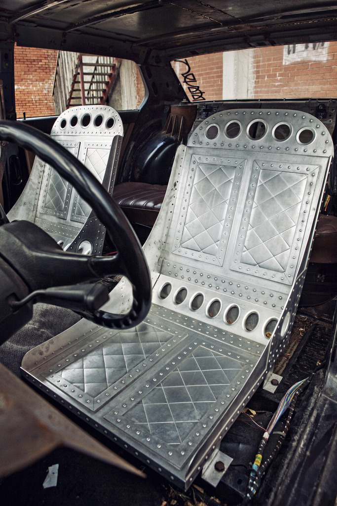 the80sareforever:  Rusty's old seats are officially for sale. Hand made, all aluminum, one of a kind pair. $1000.