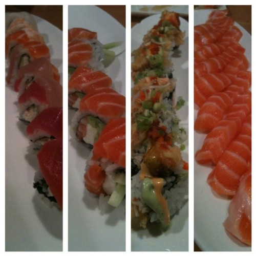 last #sushi run of sophomore year! (Taken with Instagram at Sushi Asahi)