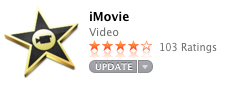 Eventually broke down and purchased iMovie from the App Store ($14.99). It was not installed on my pre-owned MacBook Pro. I got really tired really fast of trying to figure out whether or not it was possible to do what I wanted to do with avidemux. I'm not 25 anymore; I don't have time for that shit. I imagined travelling back in time to 1988 and telling people that in the future they'd be able to purchase video editing software for 50 cents (inflation adjustment approximate) and have it delivered and installed magically onto their computer within minutes (no floppy disks!). This story made me feel better about dropping 15 bucks on something that comes pre-installed for nothing on new Macs.