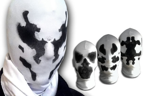 Real life Moving Rorschach Masks w/ Video To those who are planning to attend a cosplay event here's something that will twist your mind. A Real Life Rorschach Masks Replica that Goes for sale online!  There are 5 different versions of the mask to chose and believe it or not they go out of stock in just a matter of days. Price for each Rorschach Masks is $35. There's a video past the break which illustrates the moving ink spots on the masks which is pretty weird [[MORE]]  Source: Rorschach Masks