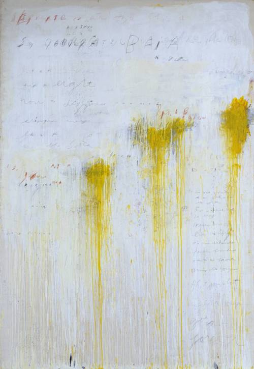 fckyeaharthistory:  Cy Twombly - Quattro Stagioni: Estate, 1993-5. Acrylic and pencil on canvas