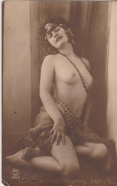 Gorgeous 1920s Postcard of an Exotic Dancing Girl