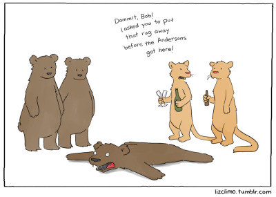 lizclimo:  How awkward dinner parties start in the animal kingdom.