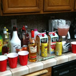 We mixing tonight! #summer #nofilter #bomb #alcohol  (Taken with Instagram)