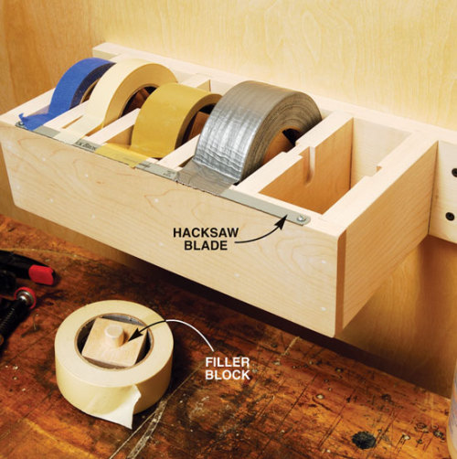 cajunmama:  (via How-To: Wooden Multi-Roll Tape Dispenser @Craftzine.com blog)   I NEED this!  Genius.