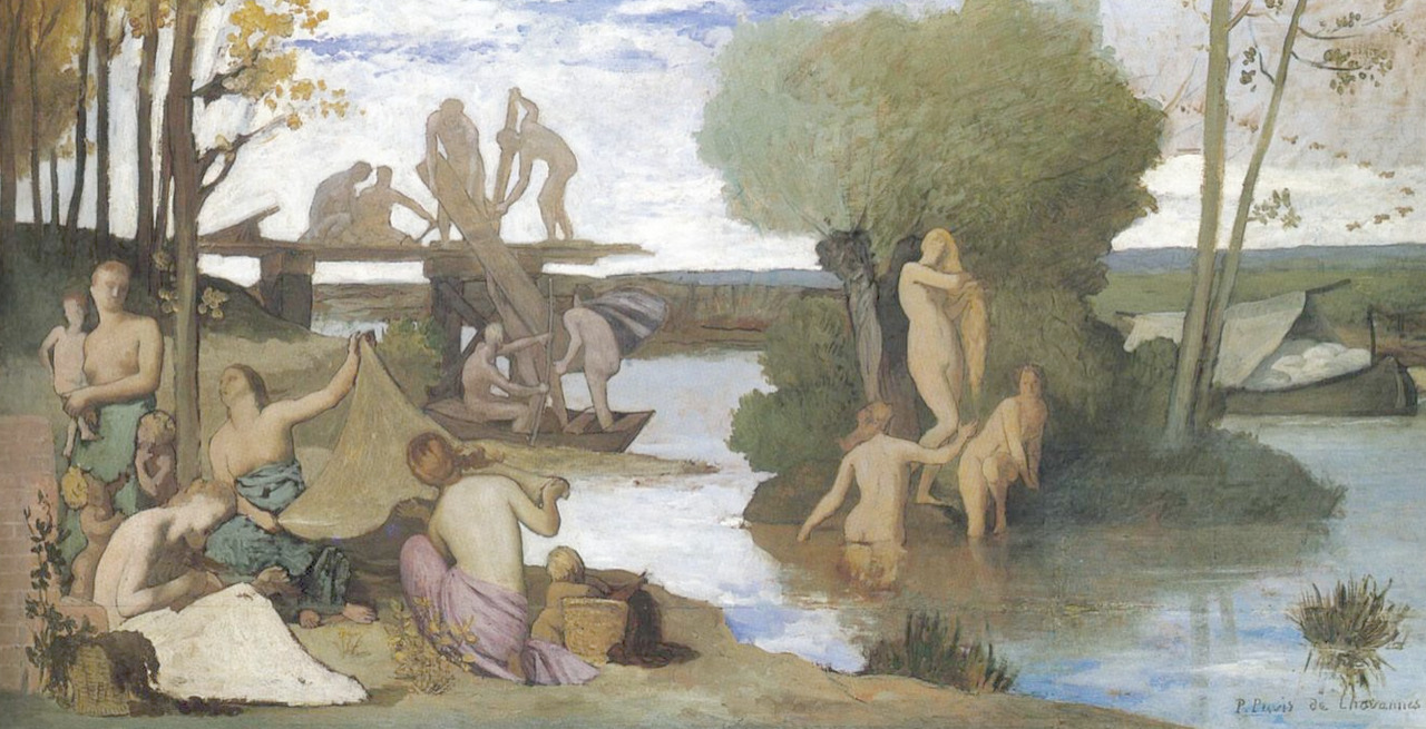 michael-angelo-lombardo:  The River, 1864   Pierre Puvis de Chavannes