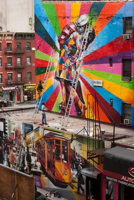 """V-J Day in Times Square"" by Eduardo Kobra (Brazil)"