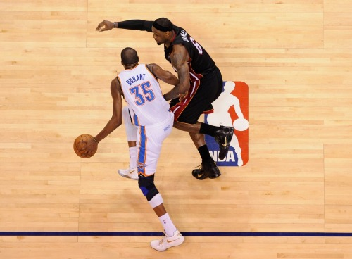 nba:  June 14, 2012 - NBA Finals Game 2: Miami Heat at Oklahoma City Thunder. (Photo by Noah Graham/NBAE via Getty Images)