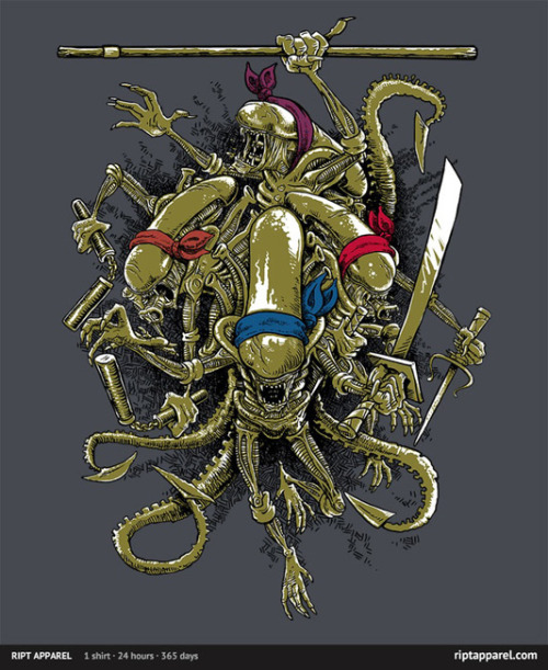 themoviesheet:  Alien/TMNT 'Teenage Alien Ninjamorphs' Shirt