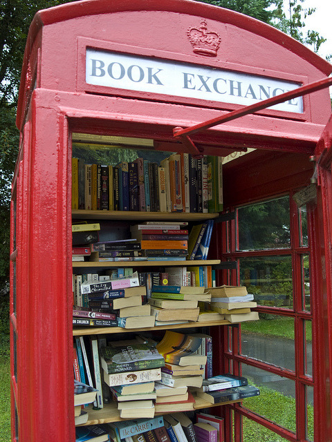 dustbowlfiddler:  Book Exchange by Seòras on Flickr.