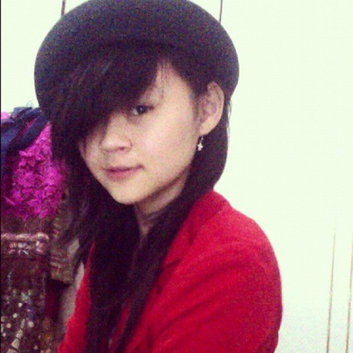 #red #blazer #bowler #hat #me #myself #selfpotrait #ladylovered  (Taken with Instagram)