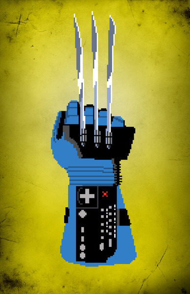Power Glove Love: Wolverine - by Josh Ln Prints available at Society6