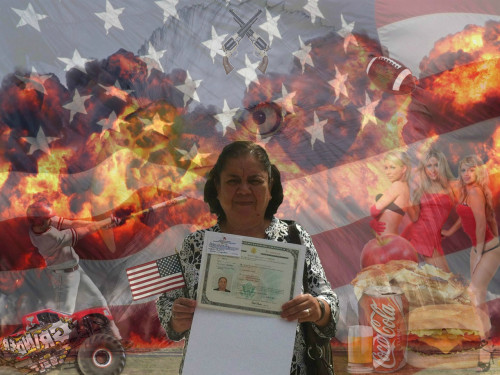 You are now an American citizen… Fuck yeah!  画