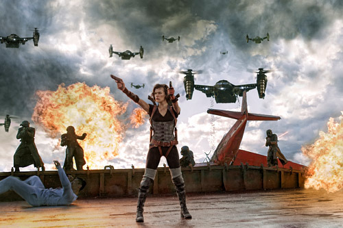 First full trailer for Resident Evil: Retribution: watch now Resident Evil: Retribution has released a first full trailer in which Milla Jovovich's ass-kicking heroine Alice, finds herself back in the clutches of the nefarious Umbrella Corporation.The trailer begins with Alice living in some kind of suburban fantasy-land, only for her family home to fall under attack from a horde of marauding zombies. It soon transpires that this newfound domestic bliss is an illusion generated by Umbrella, who are holding our heroine captive…