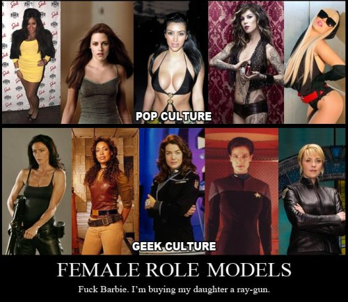 Female Role Models - Pop Culture vs. Geek Culture