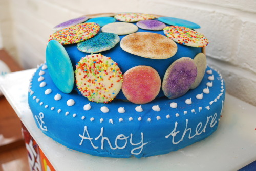 Nautical colours cake