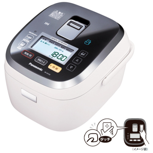 The $600 SR-SX2 smartphone-controlled rice cooker from Panasonic allows you to use your FeliCa NFC enabled Android smartphone to set the device's timer, rice type, and cooking variations. The rice cooker is also connected to Panasonic's cloud servers, allowing the user to access a number of special recipes.