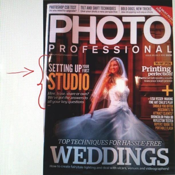 Check out my Studio Hire article in this months @photoprouk folks!  (Taken with Instagram)