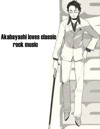 """Akabayashi loves classic rock music."""