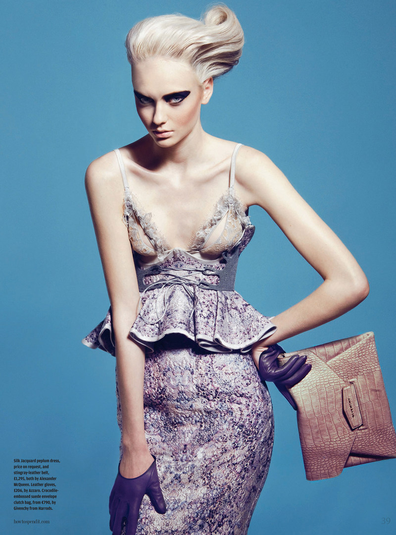 Nastya Kusakina in Alexander McQueen for How to Spend it Magazine