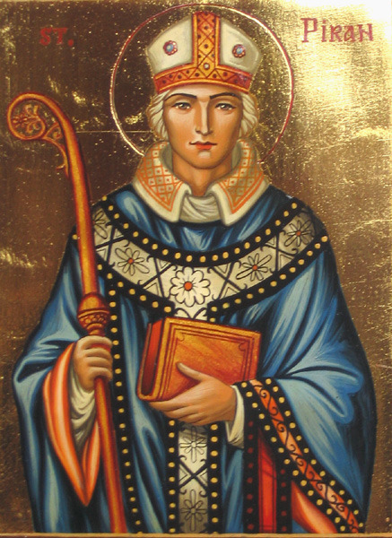 Saint Piran, Bishop of Padstowe, Cornwall (†480). He is a Saint of the Ancient Church. He lived prior to the Great Schism, so he's venerated from Orthodox, Catholics and Anglicans. Please St. Piran, intercede for us all!