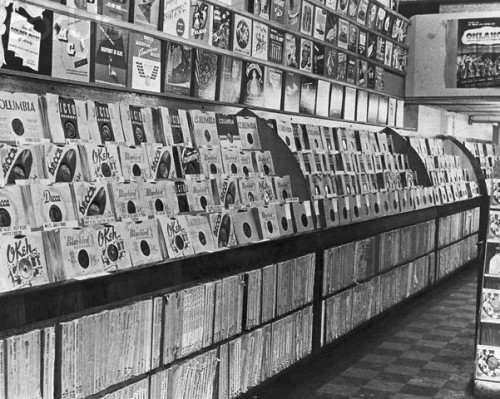 ca. 1950s, USA — Record Store — Image by © Michael Ochs Archives/Corbis Looks like HEAVEN to me.