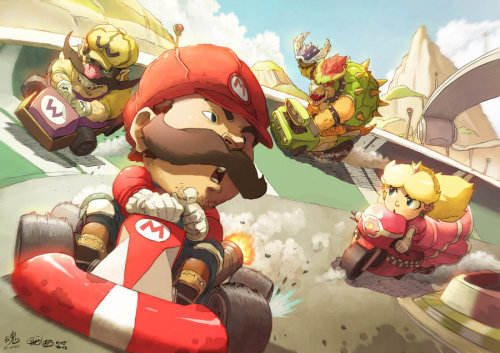 Mario Kart: Wheels of Fury. Had a great opportunity to work with the awesome Chamba, he did the lineworks and I did the coloring. facebook: http://www.facebook.com/ryspiritartDeviantart: http://ry-spirit.deviantart.comYoutube: http://www.youtube.com/ryspirit