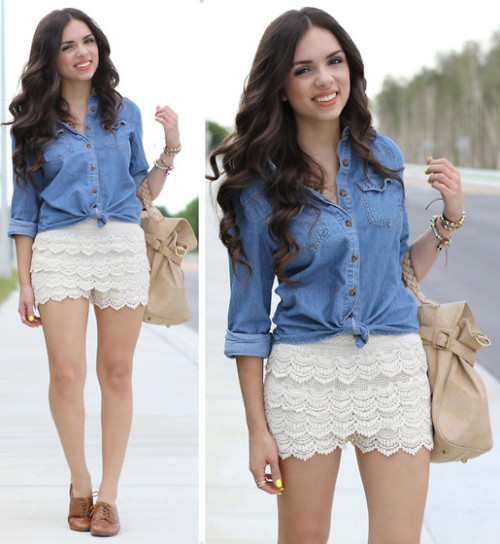 Crochet and denim! (by Daniela Ramirez)