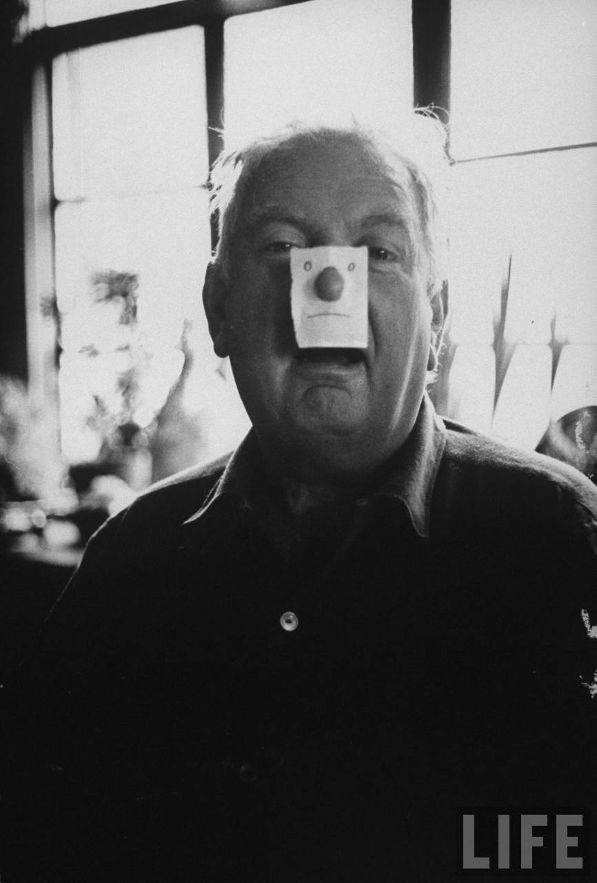 Reblog of the day!  This portrait of Alexander Calder wearing a paper mask at his Roxbury home is the perfect way for us to jump start our newest feature, #throwbackthursday!  More throwbacks to come…