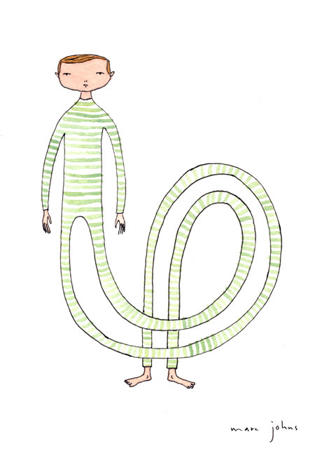 the green striped pajamas had an unusual effect on him