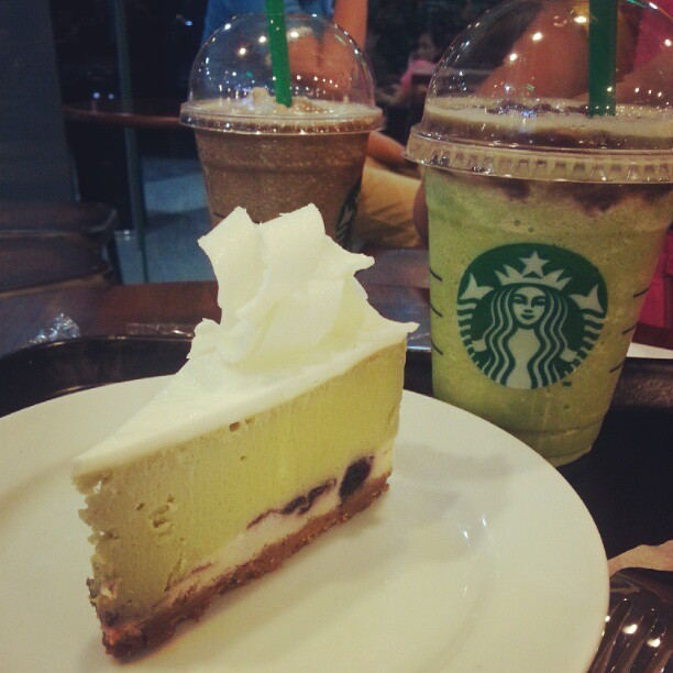 Green tea desserts (Taken with Instagram at Starbucks)